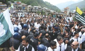Pakistan's nationals observed kashmir'a hour