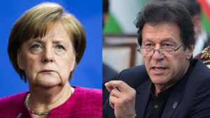 imran khan discusses kashmir issue with german chancellor