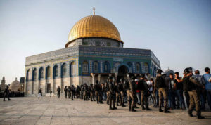 clash of israeli forces and palestinians at jeruselum