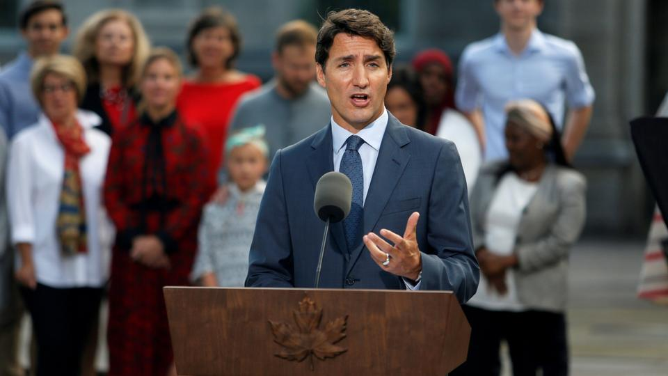 Justin Trudeau  starts re-election campaign