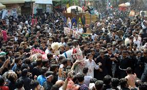 Large processions on the 9th of Muharram were carried out across the country